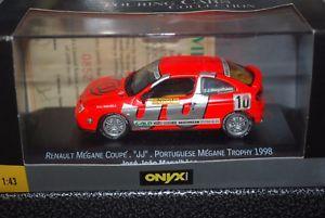 【送料無料】模型車 モデルカー スポーツカーオニキスルノーメガーヌクーペメガーヌトロフィーonyx xcl99007 renault megane coupe megane trophy 1998 magalhaes 143