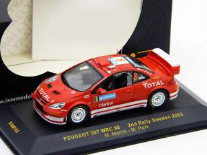 【送料無料】模型車 モデルカー スポーツカープジョー#ラリースウェーデンネットワークpeugeot 307 wrc 8 rallye sweden 2005 143 ixo