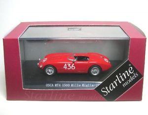 【送料無料】模型車 モデルカー スポーツカーミッレミリアosca mz4 1500 436 mille miglia 1956