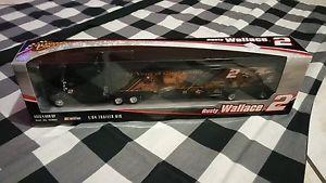 【送料無料】模型車 モデルカー スポーツカーウォーレス#トレーラー2006 winners circle rusty wallace 2 164 trailer rig
