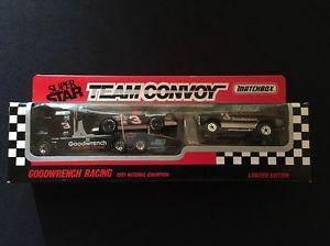 【送料無料】模型車 モデルカー スポーツカーデイルアーンハートマッチチーム#dale earnhardt goodwrench matchbox team convoy 3 1991 limited edition