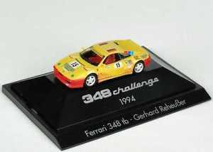 【送料無料】模型車 モデルカー スポーツカーフェラーリチャレンジ187 ferrari 348tb challenge 1994 nr15 gerhard reheuer herpa 036238