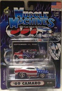 【送料無料】模型車 モデルカー スポーツカーマシン#;カマロカーtas010205 2001 muscle machines 164 diecast 039;69 camaro 9112001 car