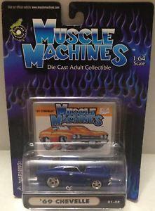 【送料無料】模型車 モデルカー スポーツカーマシン#;tas010425 2000 muscle machines 164 diecast 039;69 chevelle 0148 car