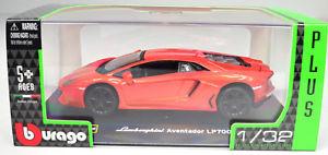 【送料無料】模型車 モデルカー スポーツカーランボルギーニオレンジスケールlamborghini aventador lp7004 orange scale 13 2 by bburago