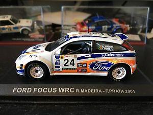 【送料無料】模型車 モデルカー スポーツカーフォードフォーカスラリーポルトガルマデイラford focus wrc 2001 rally portugal rui madeira