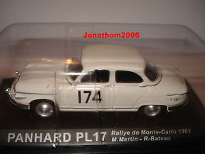 【送料無料】模型車 モデルカー スポーツカーモンテカルロラリーpanhard pl17 rally of monte carlo 1961 au 143