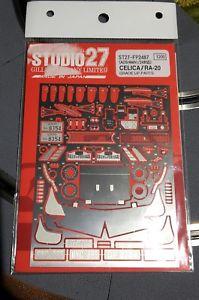 【送料無料】模型車 モデルカー スポーツカーモデルキットラリートヨタセリカグアテマラアップパーツスタジオmodel kit rally toyota celica 2000 gt ra 20 grade up parts studio 27 124