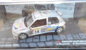 【送料無料】模型車 モデルカー スポーツカークリオマキシラリースケールrenaul clio maxi rally mcarlo 1995 ragnottithimonier scale 1 43