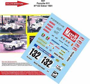 【送料無料】模型車 モデルカー スポーツカーデカールポルシェパリダカールラリーdecals 132 ref 657 porsche 911 rallye paris dakar naef 1981 rally