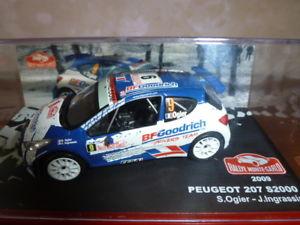 【送料無料】模型車 モデルカー スポーツカーモンテカルロラリープジョーrallye monte carlo 2009 peugeot 207 s2000ogieringrassia 143