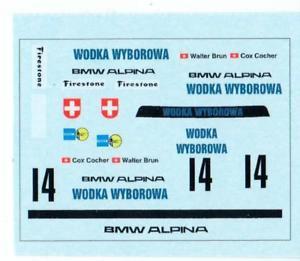 【送料無料】模型車 モデルカー スポーツカーザントフォールトウォッカデカールブランbmw 3,0 csl 14 zandvoort 1973 vodka wyberovka brun decal 143