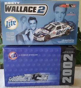 【送料無料】模型車 モデルカー スポーツカーアクションウォーレス#ミラーライトエルビスaction rusty wallace 2 miller lite elvis 25th anniversary 2002 taurus 102120
