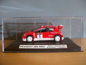 【送料無料】模型車 モデルカー スポーツカープジョーラリーアルゼンチンボックスpeugeot 206 wrc rally argentine m sagarra 2003 143 norev 143 box