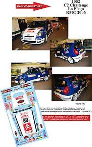 【送料無料】模型車 モデルカー スポーツカーデカールシトロエンモンテカルロラリーラリーdecals 132 ref 1052 citroen c2 lo fiego rallye monte carlo 2006 rally wrc