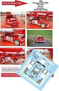 【送料無料】模型車 モデルカー スポーツカーデカールプジョーパニッツィラリーラリードイツdecals 132 ref 590 peugeot 206 wrc panizzi rally rally germany 2003