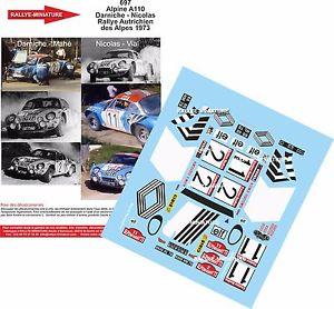 【送料無料】模型車 モデルカー スポーツカーデカールアルパインルノーオーストリアラリーdecals 132 ref 697 alpine renault a110 darniche rallye austria 1973 rally wrc