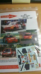 【送料無料】模型車 モデルカー スポーツカーデカールルノーグアテマラターボラリーツールドコルスラリーdecals 132 ref 823 renault 5 gt turbo balesi rally tour de corse 1987 rally