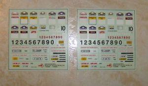【送料無料】模型車 モデルカー スポーツカーデカールオーストラリアカーラリーdecals rally additives winner australia 1988 a 1996 1 car by annee jal43