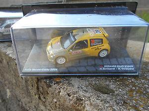 【送料無料】模型車 モデルカー スポーツカールノークリオベルナルディラリースケールrenault clio s1600 bernardigiraudet rally mcarlo 2004 scale 1 43