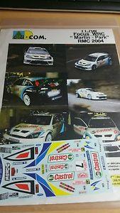 【送料無料】模型車 モデルカー スポーツカーデカールフォードフォーカスマーティンラリーモンテカルロラリーdecals 132 ref 708 ford focus wrc martin rally monte carlo 2004 rally