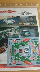 【送料無料】模型車 モデルカー スポーツカーデカールシュコダファビアクサンダーモンテカルロラリーラリーdecals 132 ref 900 skoda fabia wrc bengue rallye monte carlo 2005 rally