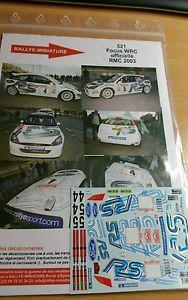 【送料無料】模型車 モデルカー スポーツカーデカールフォードフォーカスマーティンモンテカルロラリーラリーdecals 132 ref 521 ford focus wrc markko martin rallye monte carlo 2003 rally