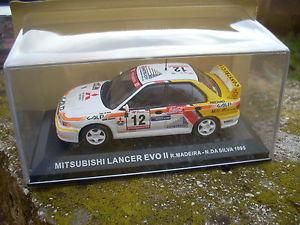 【送料無料】模型車 モデルカー スポーツカーランサーエボマデイラシルバスケールmitsubishi lancer evo ii madeira silva 1995 scale 1 43