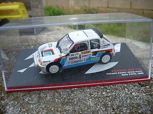 【送料無料】模型車 モデルカー スポーツカープジョーラリーレーススケールpeugeot 205 t16 a zaninij, autet rally race 1985 scale 1 43