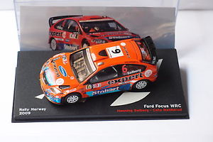 【送料無料】模型車 モデルカー スポーツカーフォードフォーカス#ラリーノルウェーソルベルグaltaya ford focus wrc 11 rally norway 2009 h solberg c menkerud 143