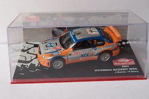 【送料無料】模型車 モデルカー スポーツカーネットワークアクセントモンテカルロ#ixo altaya huyndai accent wrc monte carlo 71 2004 143