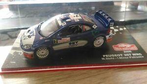 【送料無料】模型車 モデルカー スポーツカープジョーモンテカルロラリーpeugeot 307 wrc sthol rallye monte carlo 2006 143