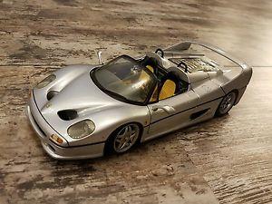 【送料無料】模型車 モデルカー スポーツカーモデルカーフェラーリシルバーメタリックホットホイールmodel car 1998 ferrari f50 silver metallic 118 hot wheels matell