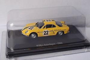 【送料無料】模型車 モデルカー スポーツカーアシェットアルパイン#インテルラゴスeligor hachette alpine willys 22 interlagos 1966 143