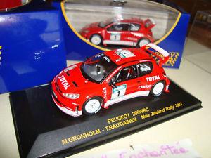 【送料無料】模型車 モデルカー スポーツカープジョーラリーニュージーランドラリーカーpeugeot 206 wrc rally  zealand rally car boys 143