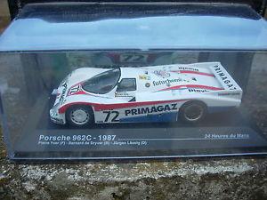 【送料無料】模型車 モデルカー スポーツカールマンポルシェスケールle mans porsche 962c1987 yverdryver lassig scale 1 43