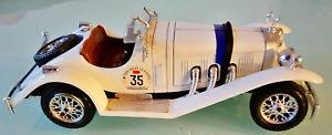 【送料無料】模型車 モデルカー スポーツカーモデルカーメルセデスベンツfantastically beautiful model car by burago, mercedes benz ssk in white 124