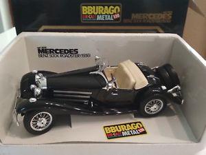 【送料無料】模型車 モデルカー スポーツカーメルセデスベンツロードスターmercedes benz 500k roadster 1936 burago