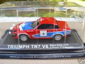 【送料無料】模型車 モデルカー スポーツカーマンラリーtriumph tr7 v8 manx rally 1978 to 143 th
