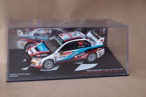 【送料無料】模型車 モデルカー スポーツカーネットワークランサーエボ#ラリーポルトガルixo altaya mitsubishi lancer evo ix 147 rally portugal 2009 143