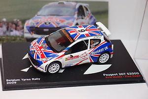 【送料無料】模型車 モデルカー スポーツカーネットワークプジョー#ベルギーイープルラリーixo altaya peugeot 207 s2000 6 belgium ypres rally 2009 143