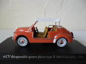 【送料無料】模型車 モデルカー スポーツカーアシェットルノーギアジョリーhachette 143 eligorrenault 4 cvr 1062 convertibleghia jolly 1961