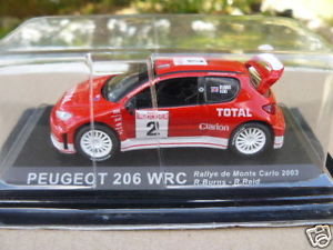 【送料無料】模型車 モデルカー スポーツカープジョーラリーpeugeot 206 wrc rally mc 2003 to 143 th