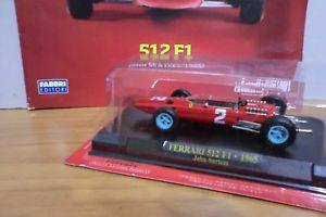 【送料無料】模型車 モデルカー スポーツカーフェラーリジョンサーティースファイルferrari f1 collectionferrari 512 f1 1965john surteeswith file