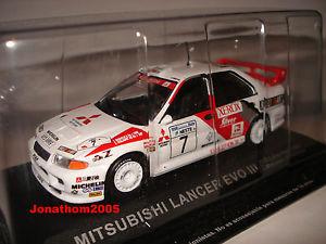 【送料無料】模型車 モデルカー スポーツカーランサーエボラリーmitsubishi lancer evo iii 7 1000 lakes rally 1996 makinenharjanne 143