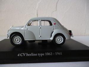 【送料無料】模型車 モデルカー スポーツカーアシェットルノーセダンタイプhachette 143 eligorrenault 4 cvsedan type 1062 1961