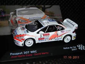 【送料無料】模型車 モデルカー スポーツカープジョーラリーpeugeot 307 wrc rallye du var 2007