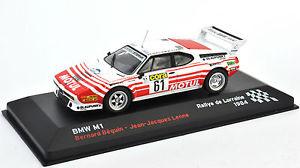 【送料無料】模型車 モデルカー スポーツカーラリーデbmw m1 no 61 rallye de lorraine 1984 143me