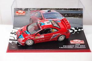 【送料無料】模型車 モデルカー スポーツカーネットワークプジョー#モンテカルロixo altaya peugeot 307 wrc 16 monte carlo 2006 143