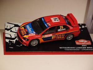 【送料無料】模型車 モデルカー スポーツカーネットワークランサーモンテカルロixo altaya mitsubishi lancer wrc monte carlo 2007 143